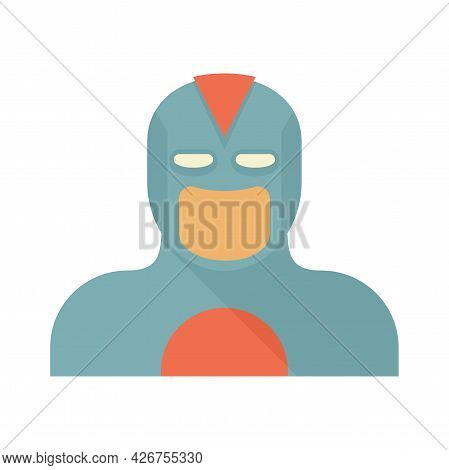 Carnival Superhero Icon. Flat Illustration Of Carnival Superhero Vector Icon Isolated On White Backg