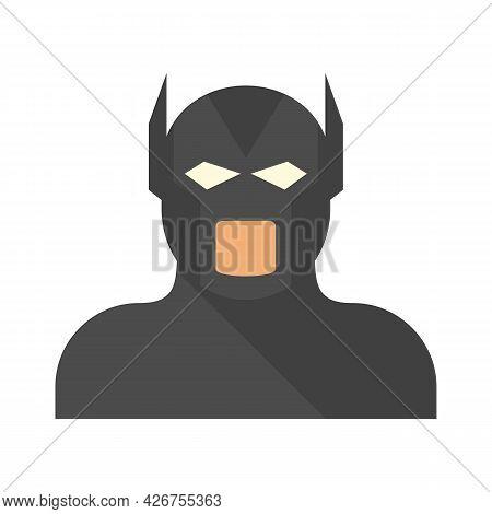 Movie Superhero Icon. Flat Illustration Of Movie Superhero Vector Icon Isolated On White Background