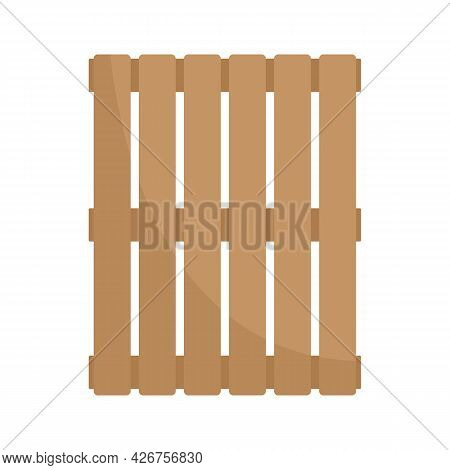 New Wood Pallet Icon. Flat Illustration Of New Wood Pallet Vector Icon Isolated On White Background