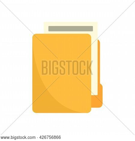 Lease Folder Icon. Flat Illustration Of Lease Folder Vector Icon Isolated On White Background