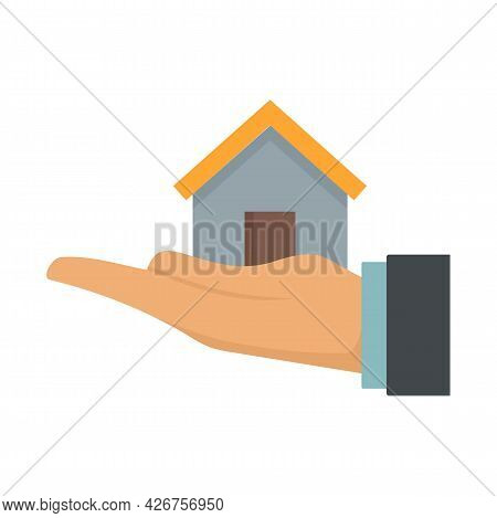 Leasing Home Icon. Flat Illustration Of Leasing Home Vector Icon Isolated On White Background
