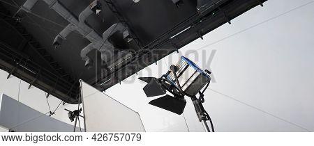 Studio Light Equipments For Photo Or Film Movie Video.