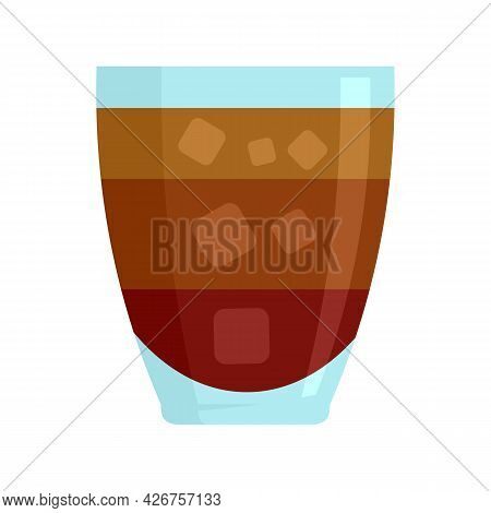 Cocktail Icon. Flat Illustration Of Cocktail Vector Icon Isolated On White Background