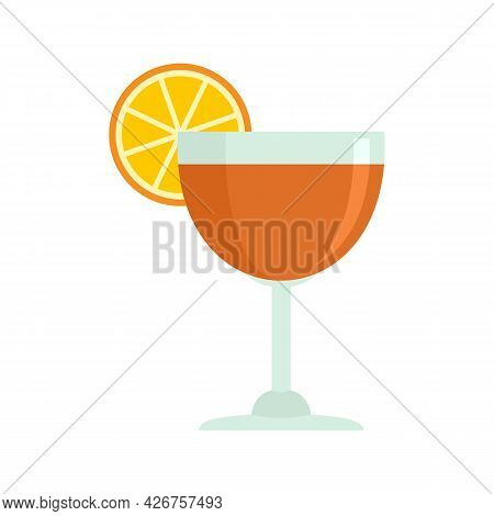 Cool Cocktail Icon. Flat Illustration Of Cool Cocktail Vector Icon Isolated On White Background