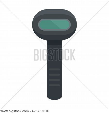 Barcode Scanner Icon. Flat Illustration Of Barcode Scanner Vector Icon Isolated On White Background