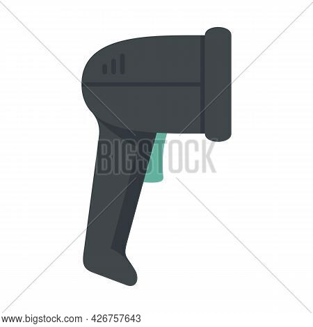 Small Barcode Scanner Icon. Flat Illustration Of Small Barcode Scanner Vector Icon Isolated On White