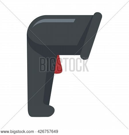 Market Barcode Scanner Icon. Flat Illustration Of Market Barcode Scanner Vector Icon Isolated On Whi