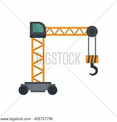 Capacity Crane Icon. Flat Illustration Of Capacity Crane Vector Icon Isolated On White Background