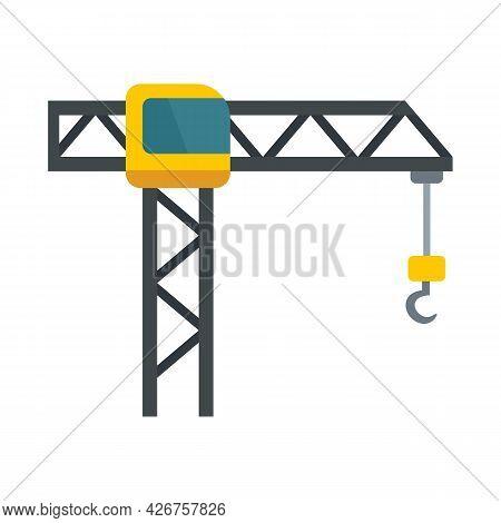 Hook Crane Icon. Flat Illustration Of Hook Crane Vector Icon Isolated On White Background