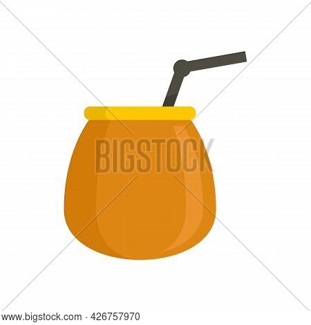 Brazil Cocktail Icon. Flat Illustration Of Brazil Cocktail Vector Icon Isolated On White Background
