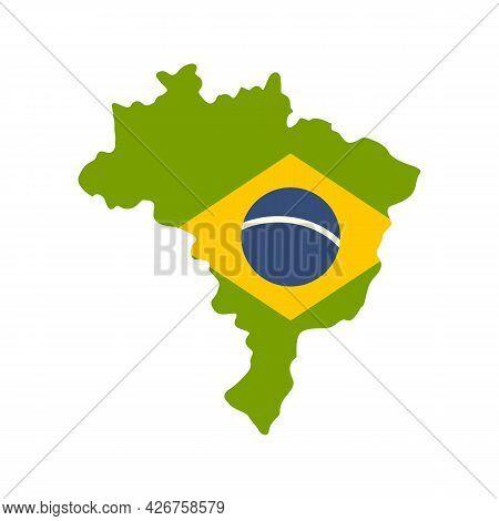 Brazil Land Icon. Flat Illustration Of Brazil Land Vector Icon Isolated On White Background