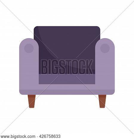 Armchair Furniture Icon. Flat Illustration Of Armchair Furniture Vector Icon Isolated On White Backg