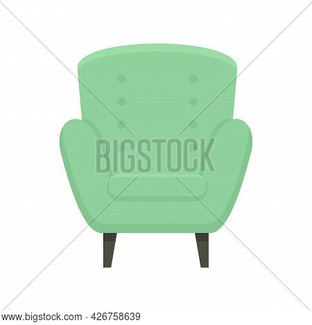 Comfort Armchair Icon. Flat Illustration Of Comfort Armchair Vector Icon Isolated On White Backgroun