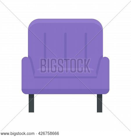 Home Armchair Icon. Flat Illustration Of Home Armchair Vector Icon Isolated On White Background