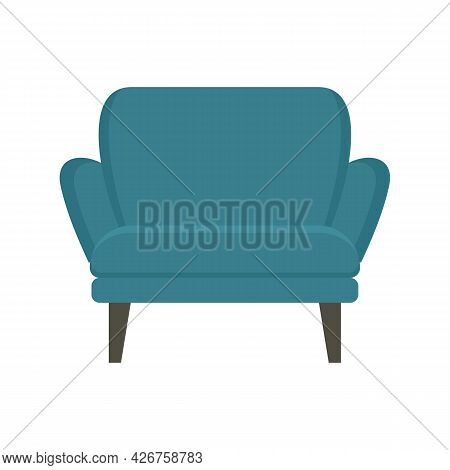 Modern Armchair Icon. Flat Illustration Of Modern Armchair Vector Icon Isolated On White Background