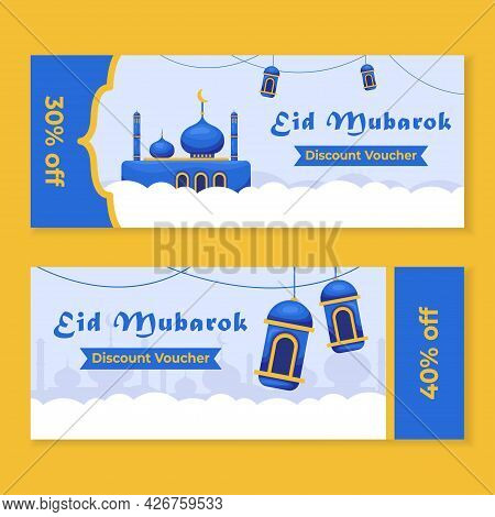 Eid Mubarok Social Media Post Template Design For E-commerce Sale Promo Discount. Can Use For Advert