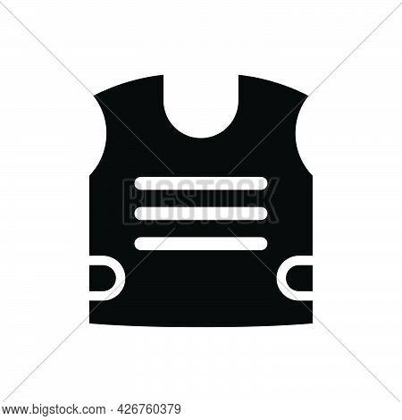 Bulletproof Vest Icon. Meticulously Designed Vector Eps File.