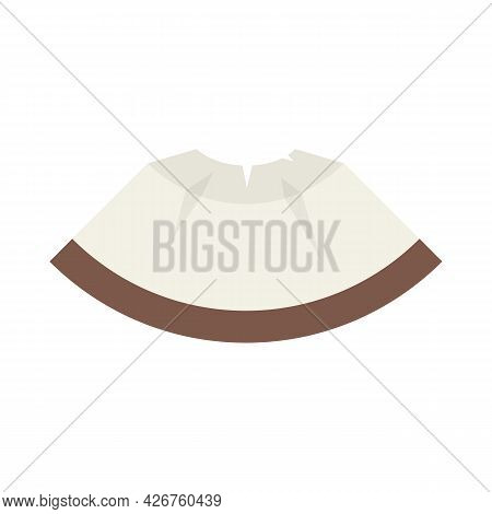 Piece Coconut Icon. Flat Illustration Of Piece Coconut Vector Icon Isolated On White Background