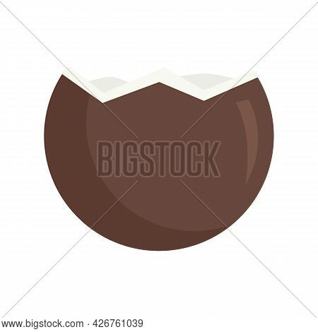 Vitamin Coconut Icon. Flat Illustration Of Vitamin Coconut Vector Icon Isolated On White Background