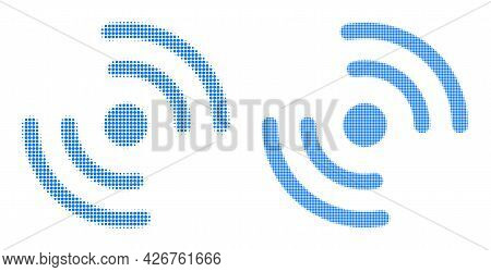 Pixel Halftone Air Cooler Rotation Icon. Vector Halftone Collage Of Air Cooler Rotation Icon Constru