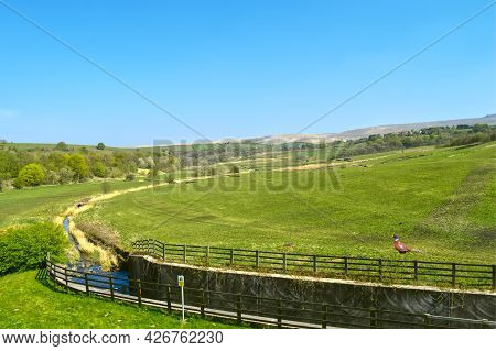 Littleborough Countryside In Rochdale Lancashire Viewed From Hollingworth Lake Country Park  With A