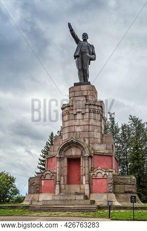 Lenin Monument In Kostroma City Center, Russia