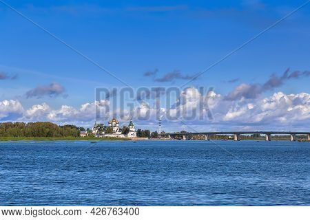 View Of Ipatiev Monastery From Volga River, Kostroma, Russia
