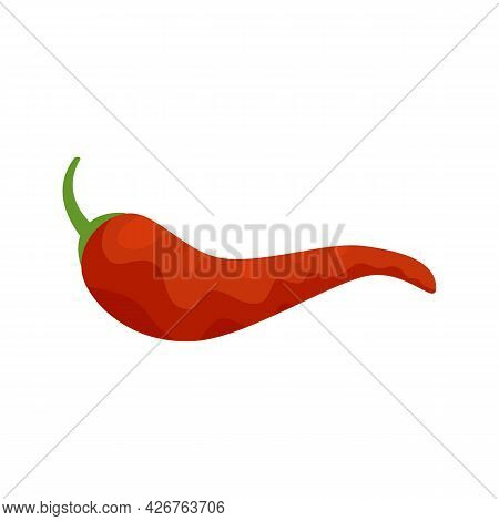 Mexican Chili Pepper Icon. Flat Illustration Of Mexican Chili Pepper Vector Icon Isolated On White B
