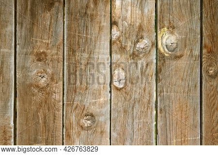 Vertical Pattern And Unique Texture Of Old Wooden Fence