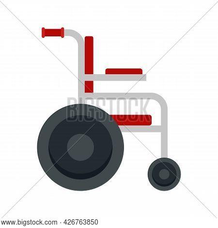 Medical Wheelchair Icon. Flat Illustration Of Medical Wheelchair Vector Icon Isolated On White Backg