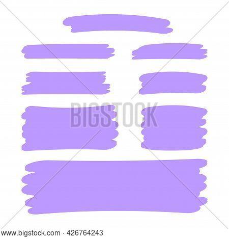 Purple Stripes Brush Paint For Scribble Marker, Brushstroke Painting Purple Pastel Soft Color, Purpl