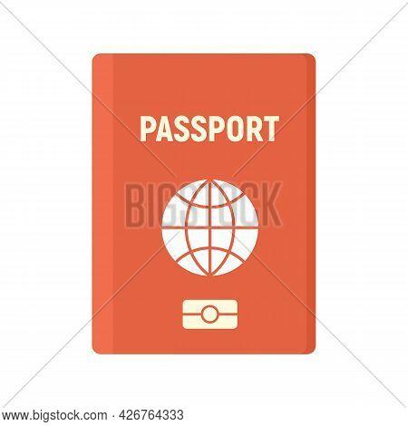 Travel Passport Icon. Flat Illustration Of Travel Passport Vector Icon Isolated On White Background