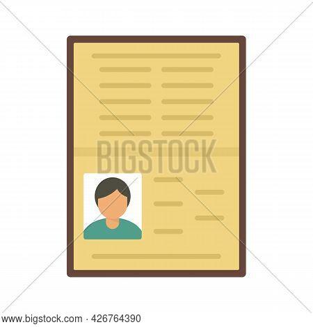 Open Id Passport Icon. Flat Illustration Of Open Id Passport Vector Icon Isolated On White Backgroun