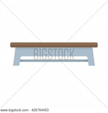 Bench Icon. Flat Illustration Of Bench Vector Icon Isolated On White Background