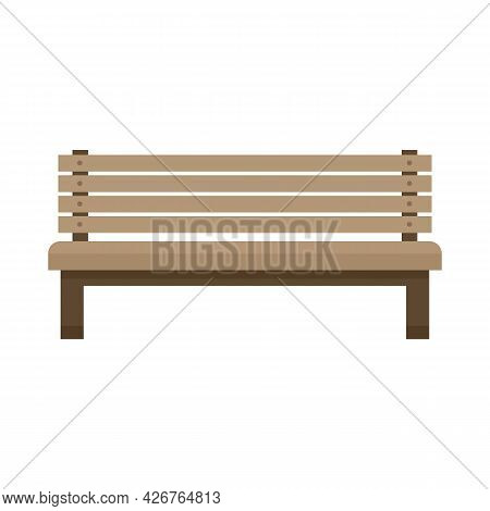 Park Bench Icon. Flat Illustration Of Park Bench Vector Icon Isolated On White Background