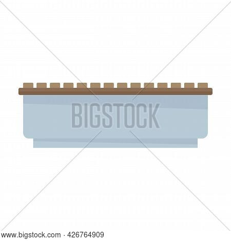 Stone Bench Icon. Flat Illustration Of Stone Bench Vector Icon Isolated On White Background