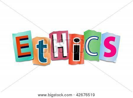 Ethics Concept.