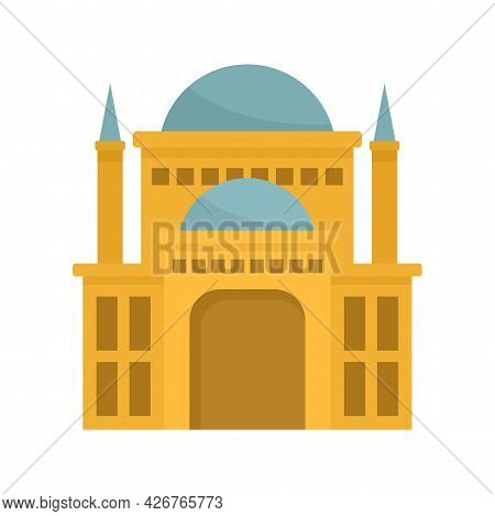 Egypt Castle Icon. Flat Illustration Of Egypt Castle Vector Icon Isolated On White Background