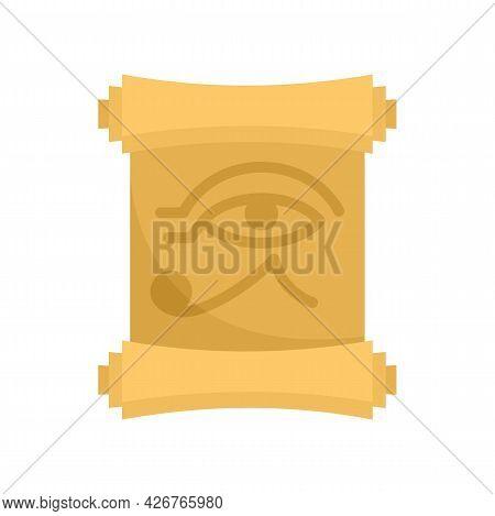 Egypt Papyrus Icon. Flat Illustration Of Egypt Papyrus Vector Icon Isolated On White Background