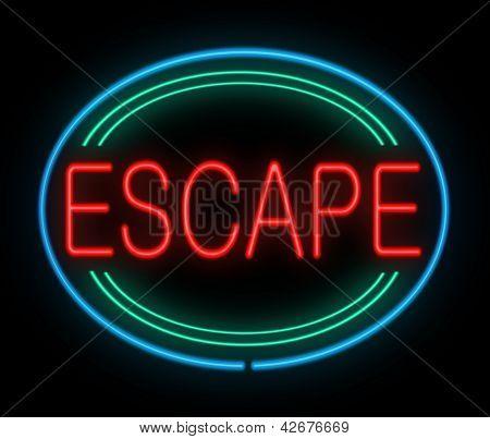 Escape Sign.
