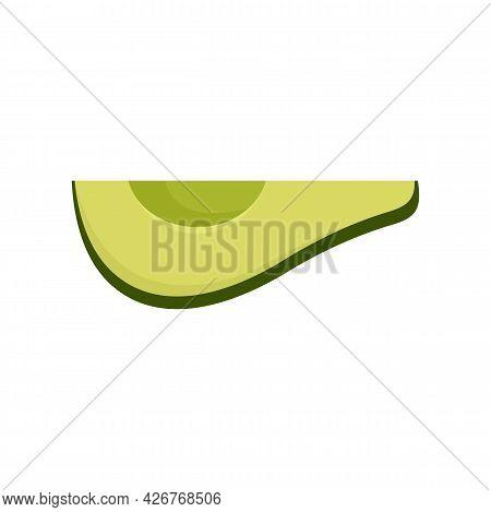 Avocado Slice Icon. Flat Illustration Of Avocado Slice Vector Icon Isolated On White Background