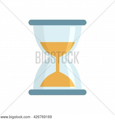 Hourglass Icon. Flat Illustration Of Hourglass Vector Icon Isolated On White Background