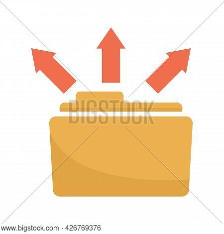 Folder Share Icon. Flat Illustration Of Folder Share Vector Icon Isolated On White Background
