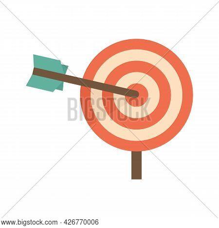 Company Business Target Icon. Flat Illustration Of Company Business Target Vector Icon Isolated On W