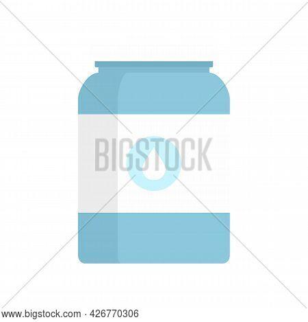 Milk Jar Icon. Flat Illustration Of Milk Jar Vector Icon Isolated On White Background