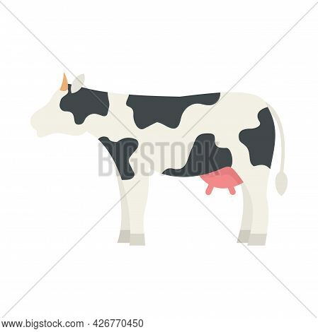 Diary Cow Icon. Flat Illustration Of Diary Cow Vector Icon Isolated On White Background