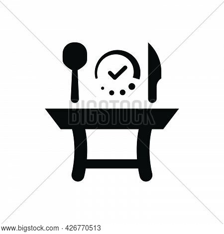 Restaurant Table Reserved Icon. Meticulously Designed Vector Eps File.