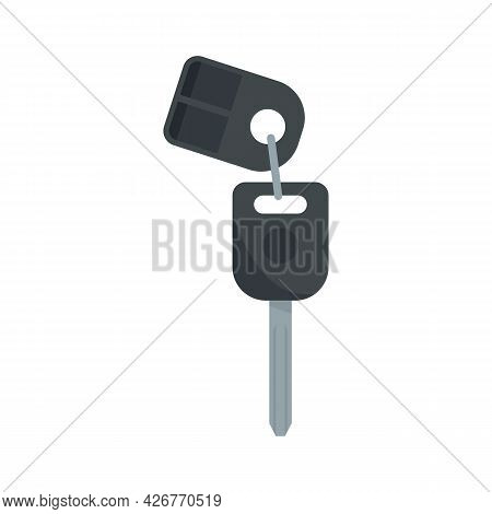 Car Alarm System Icon. Flat Illustration Of Car Alarm System Vector Icon Isolated On White Backgroun