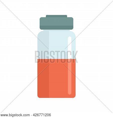 Syringe Bottle Icon. Flat Illustration Of Syringe Bottle Vector Icon Isolated On White Background