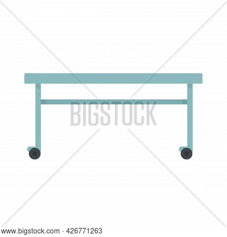 Hospital Bed Icon. Flat Illustration Of Hospital Bed Vector Icon Isolated On White Background